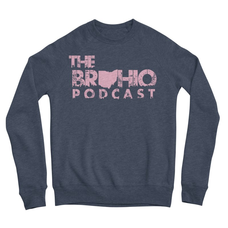 Pink logo Men's Sponge Fleece Sweatshirt by Brohio Merch