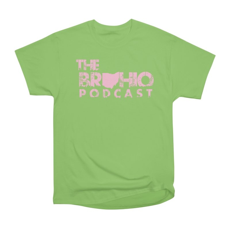 Pink logo Men's Heavyweight T-Shirt by Brohio Merch