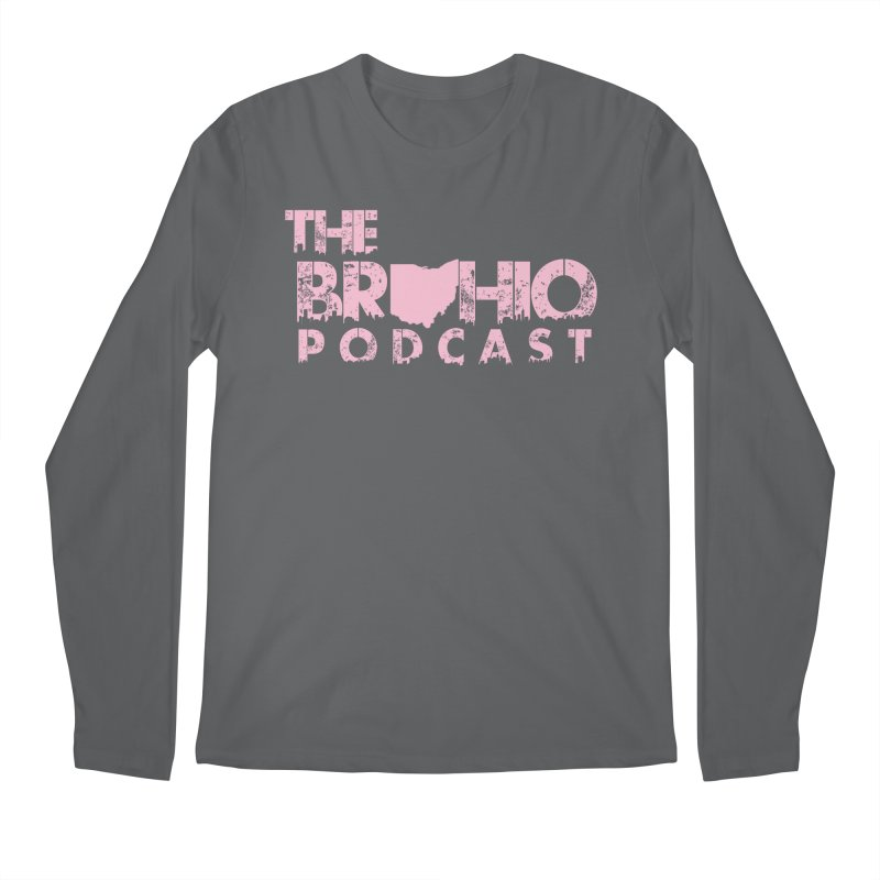 Pink logo Men's Regular Longsleeve T-Shirt by Brohio Merch