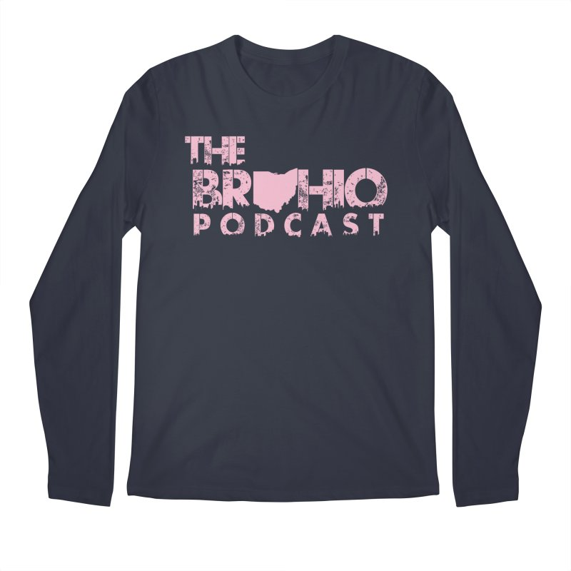 Pink logo Men's Regular Longsleeve T-Shirt by Brohio Merch
