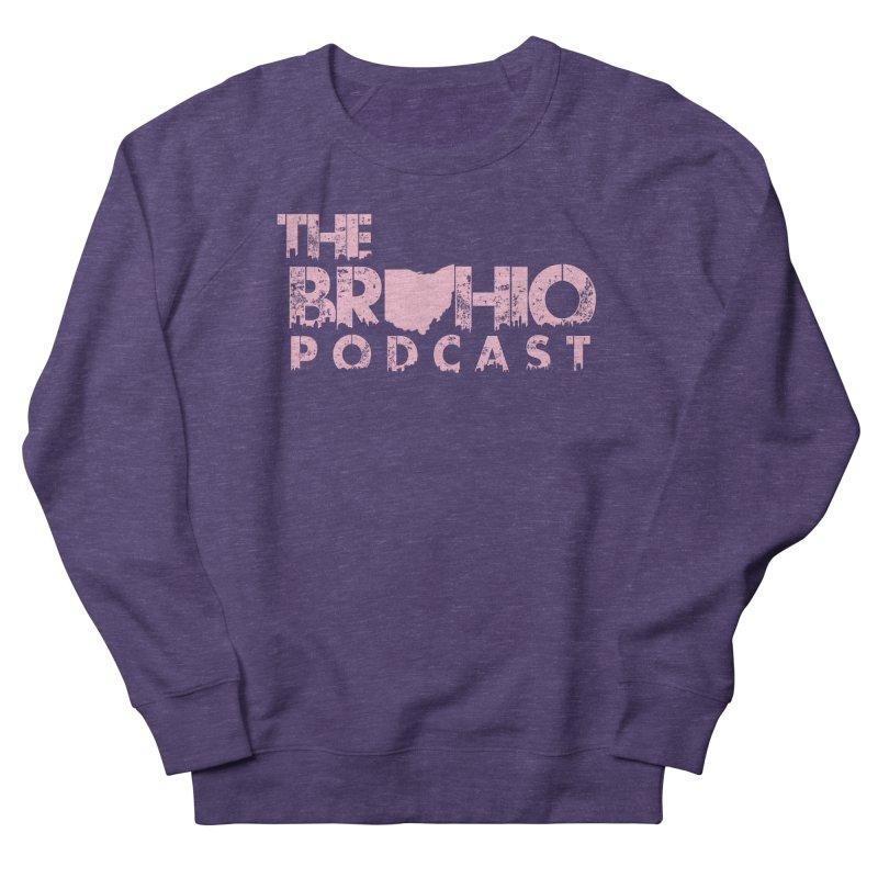 Pink logo Women's French Terry Sweatshirt by Brohio Merch