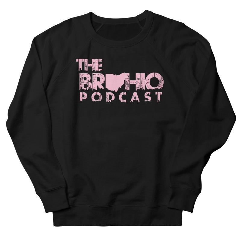 Pink logo Women's French Terry Sweatshirt by Brohio Merch