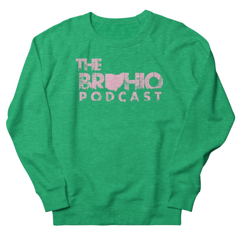 Pink logo Men's French Terry Sweatshirt by Brohio Merch