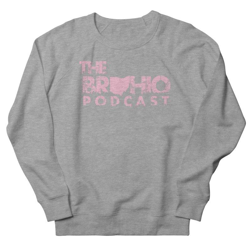 Pink logo Men's French Terry Sweatshirt by Brohio Merch
