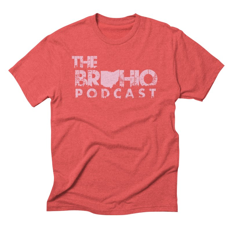Pink logo Men's Triblend T-Shirt by Brohio Merch