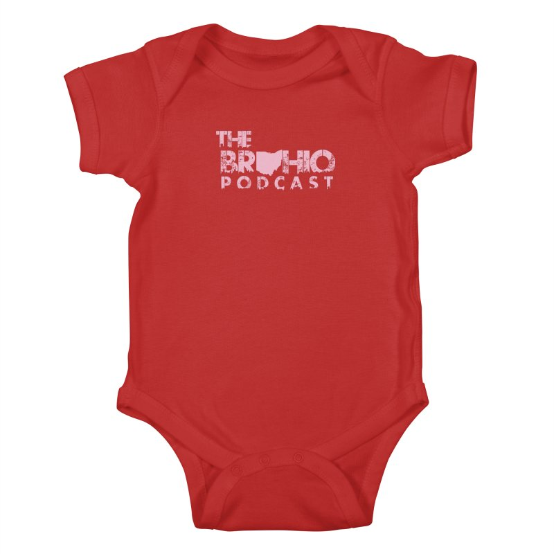Pink logo Kids Baby Bodysuit by Brohio Merch