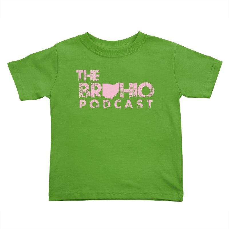 Pink logo Kids Toddler T-Shirt by Brohio Merch