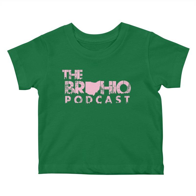 Pink logo Kids Baby T-Shirt by Brohio Merch