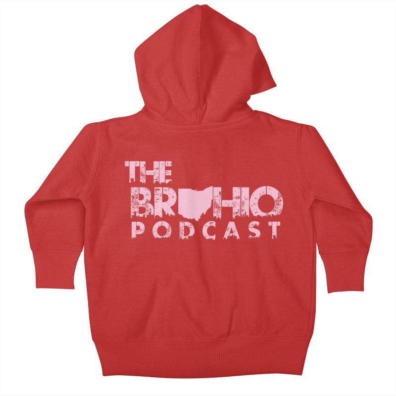 Pink logo Kids Baby Zip-Up Hoody by Brohio Merch