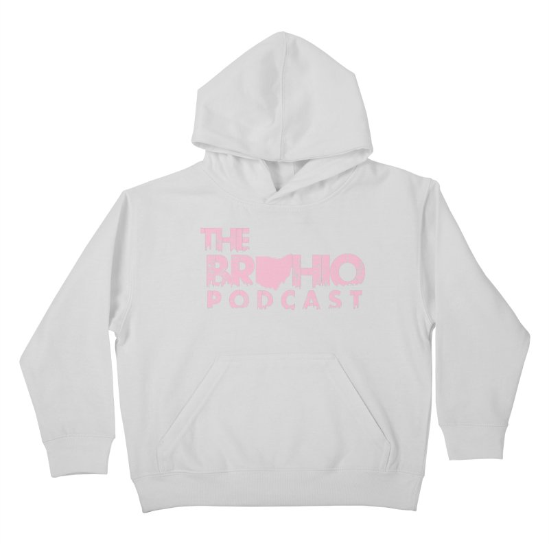 Pink logo Kids Pullover Hoody by Brohio Merch