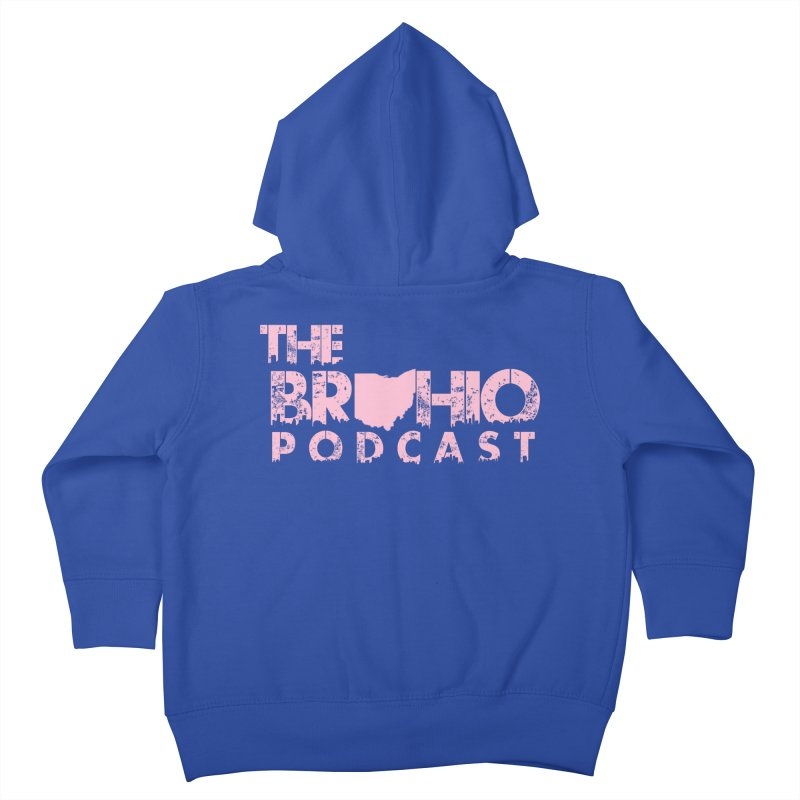 Pink logo Kids Toddler Zip-Up Hoody by Brohio Merch