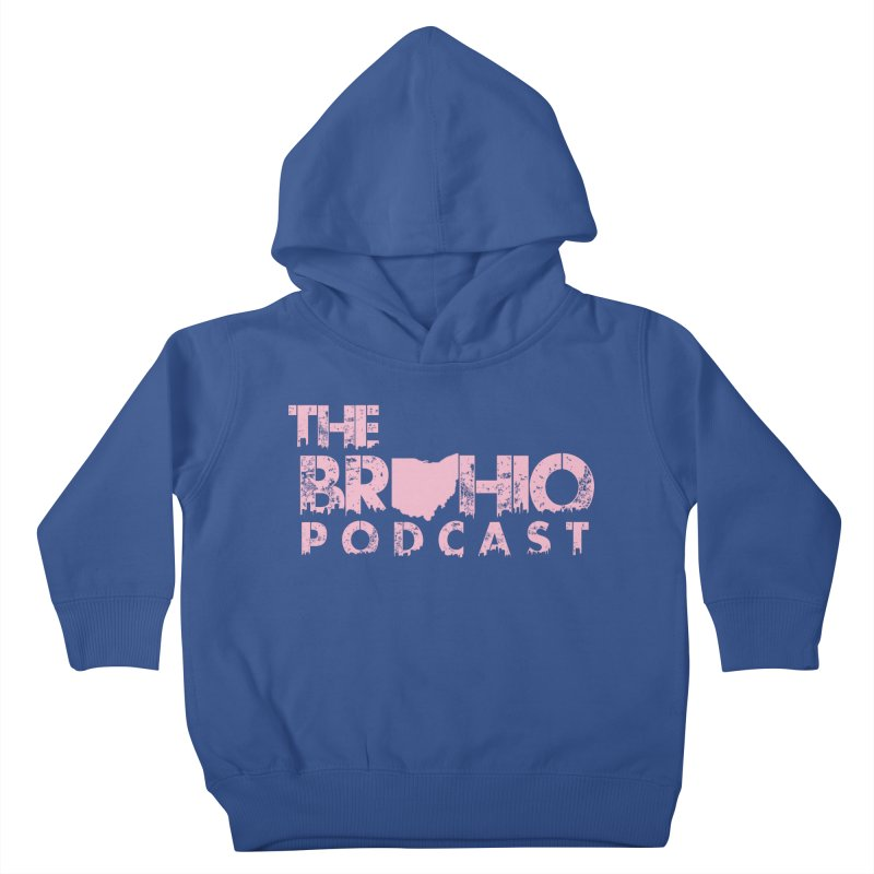 Pink logo Kids Toddler Pullover Hoody by Brohio Merch