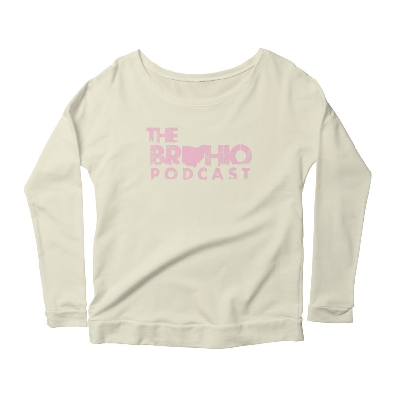 Pink logo Women's Scoop Neck Longsleeve T-Shirt by Brohio Merch