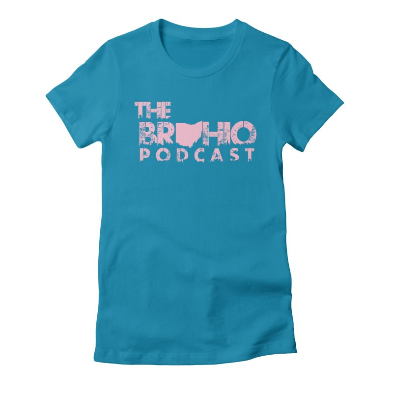 Pink logo Women's Fitted T-Shirt by Brohio Merch