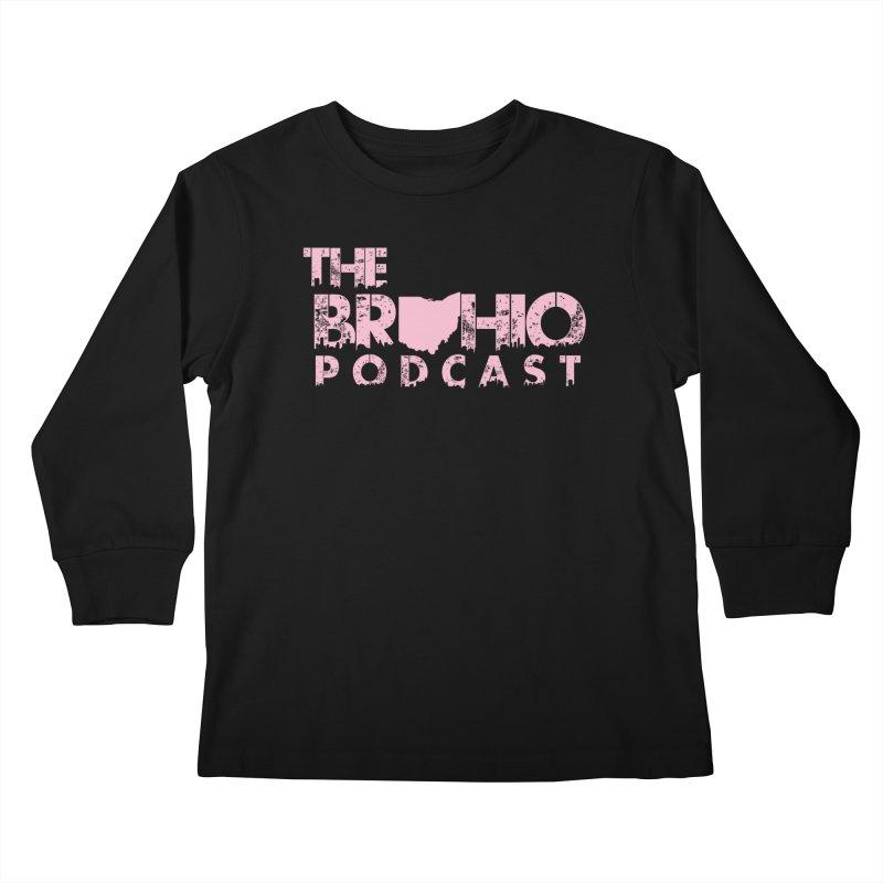 Pink logo Kids Longsleeve T-Shirt by Brohio Merch