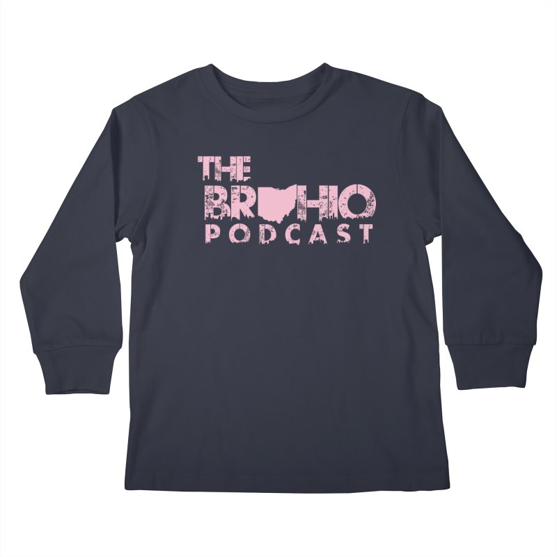 Pink logo Kids Longsleeve T-Shirt by Brohio Merch