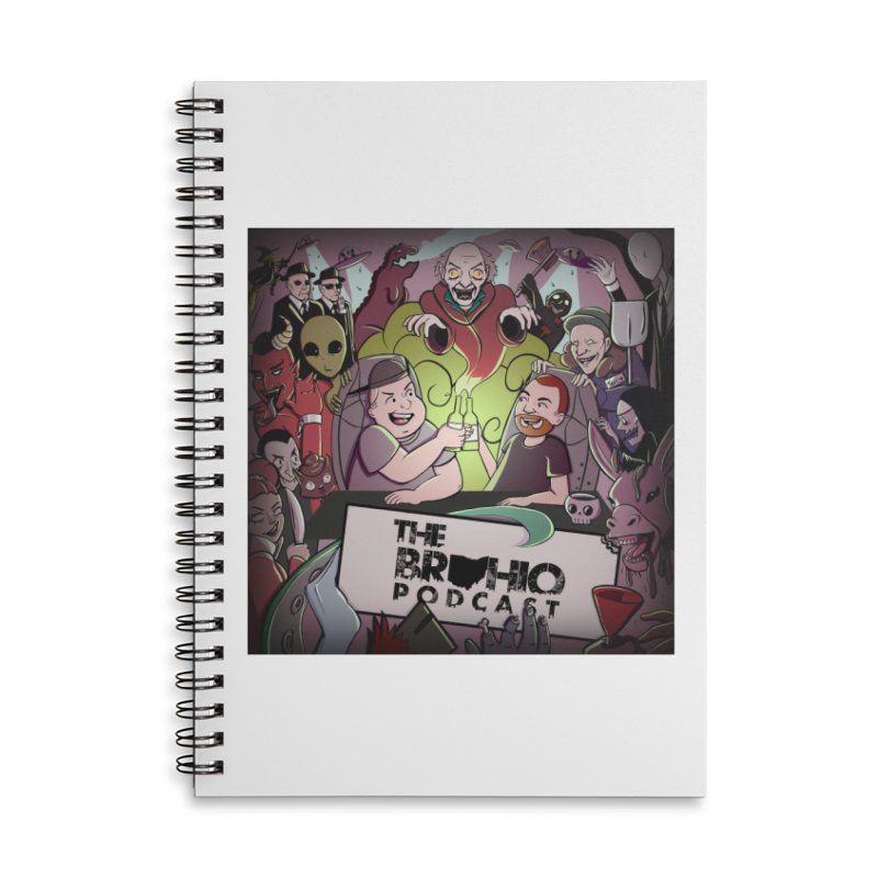Cover Art Accessories Lined Spiral Notebook by Brohio Merch