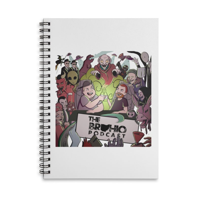The whole gang with no background Accessories Lined Spiral Notebook by Brohio Merch