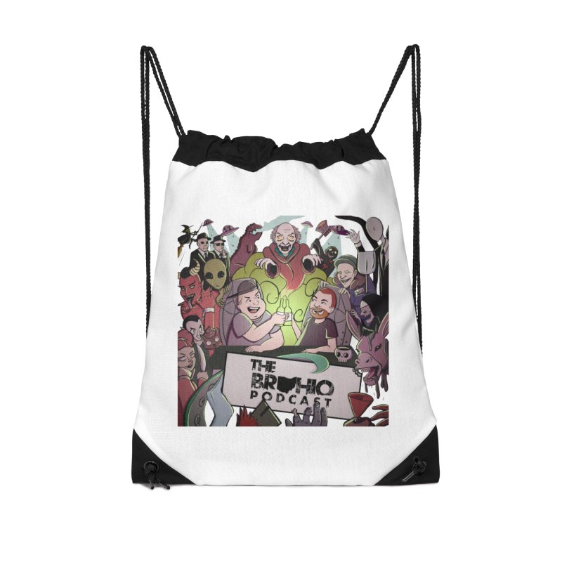 The whole gang with no background Accessories Drawstring Bag Bag by Brohio Merch