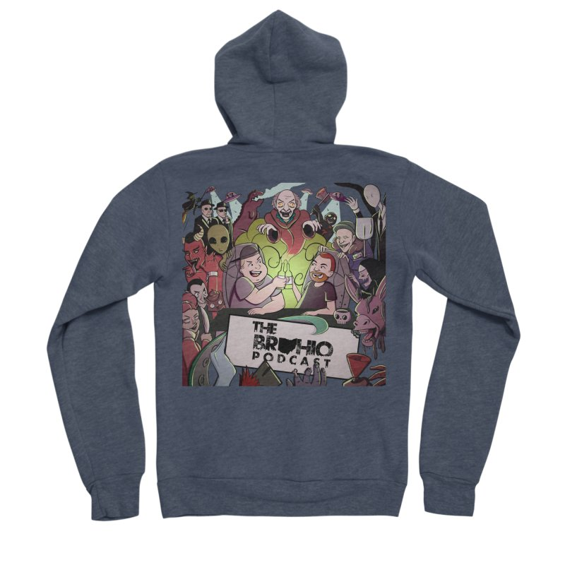 The whole gang with no background Men's Sponge Fleece Zip-Up Hoody by Brohio Merch