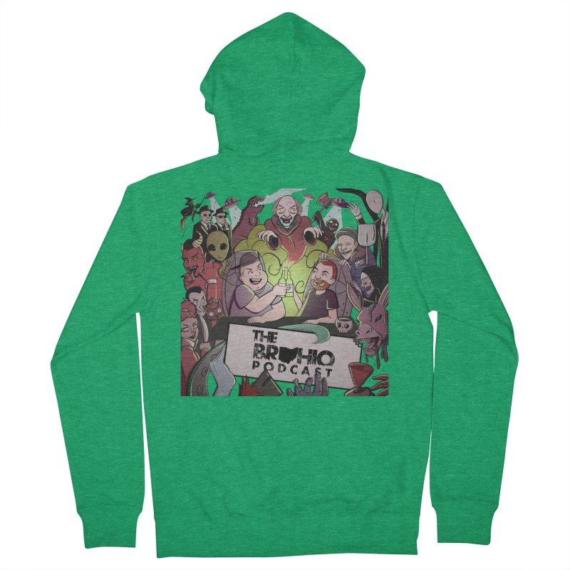 The whole gang with no background Men's Zip-Up Hoody by Brohio Merch
