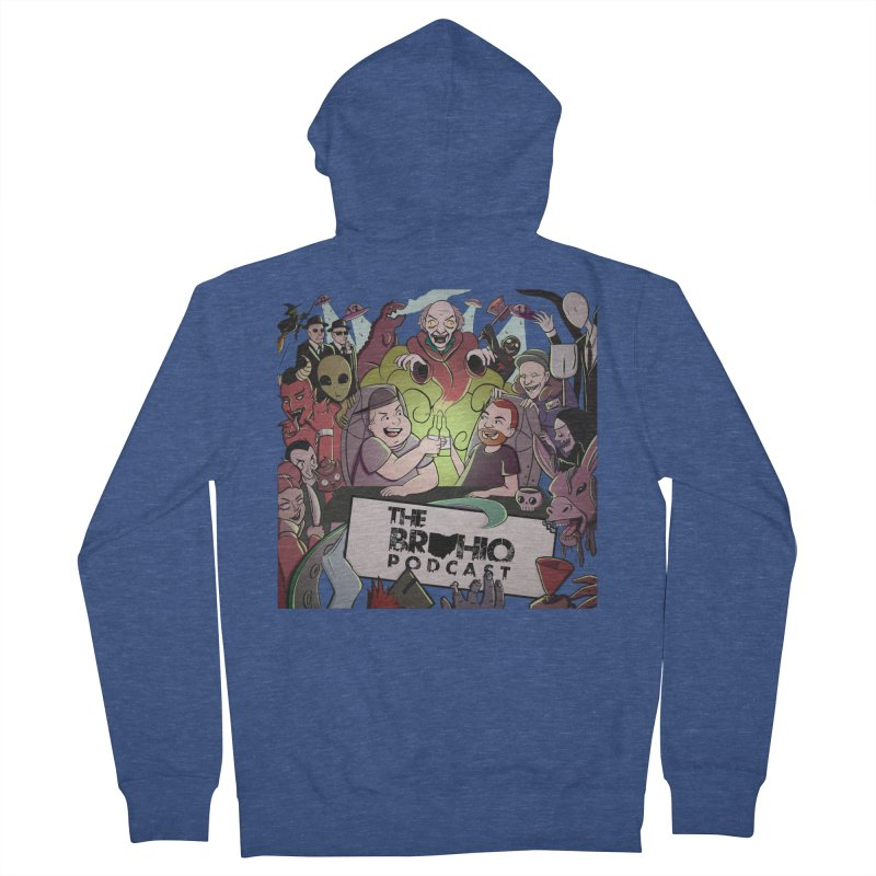 The whole gang with no background Women's French Terry Zip-Up Hoody by Brohio Merch