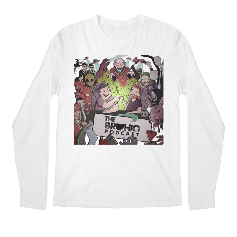 The whole gang with no background Men's Regular Longsleeve T-Shirt by Brohio Merch