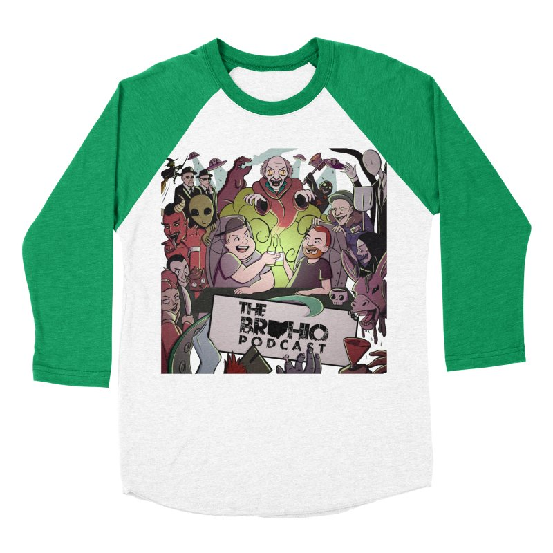 The whole gang with no background Men's Baseball Triblend Longsleeve T-Shirt by Brohio Merch