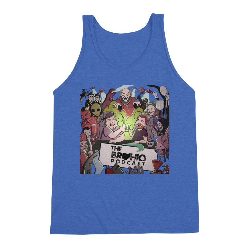 The whole gang with no background Men's Triblend Tank by Brohio Merch