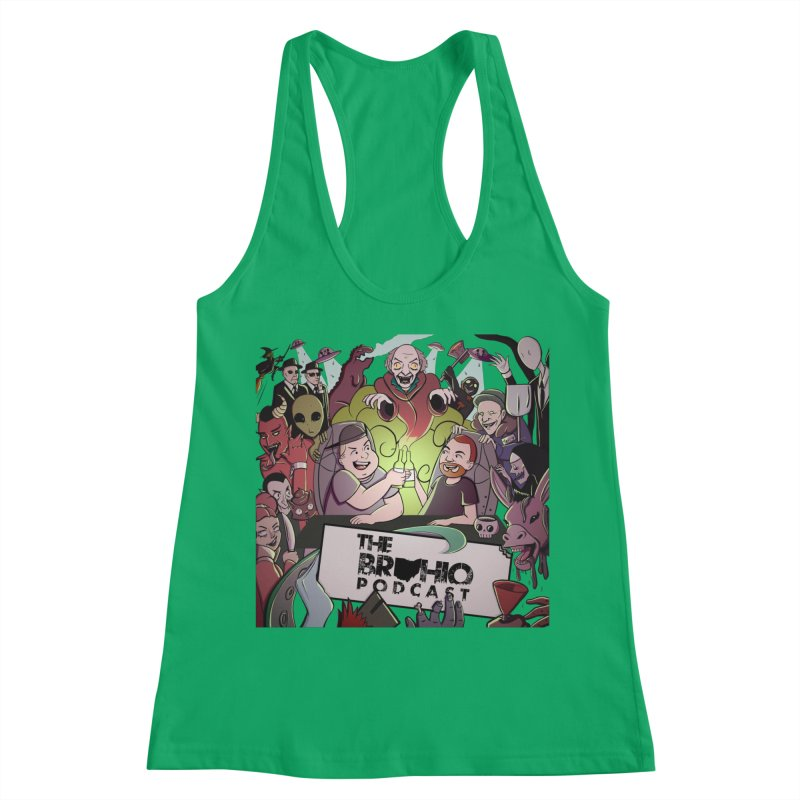 The whole gang with no background Women's Racerback Tank by Brohio Merch