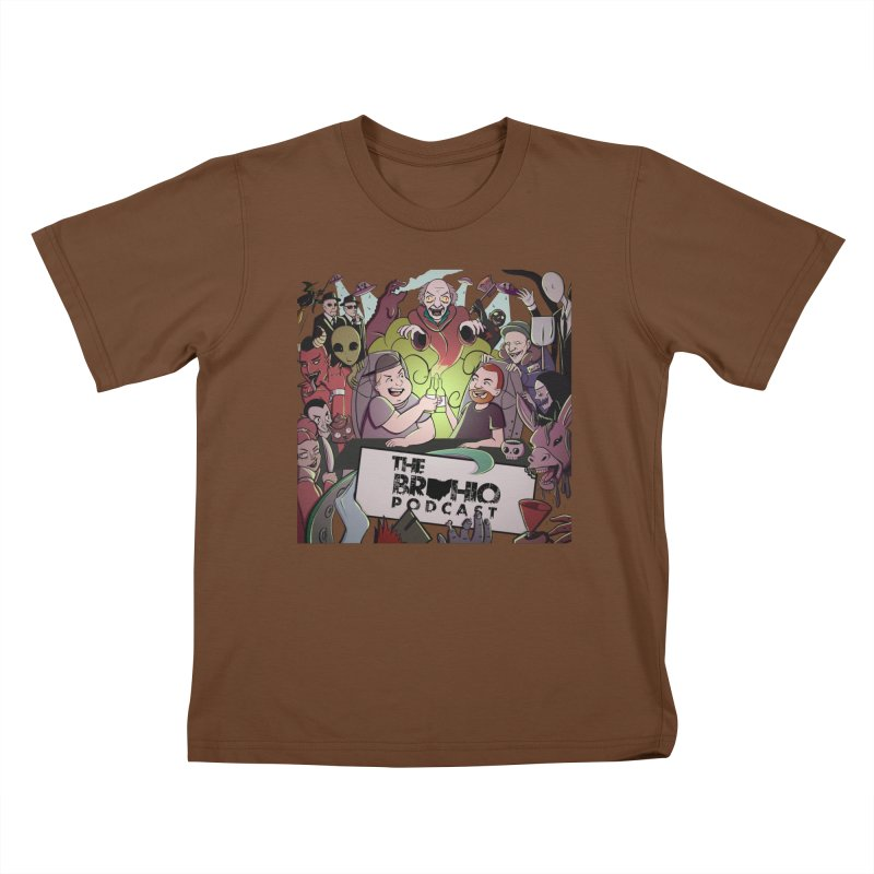 The whole gang with no background Kids T-Shirt by Brohio Merch