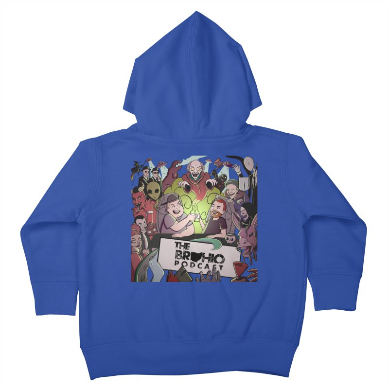 The whole gang with no background Kids Toddler Zip-Up Hoody by Brohio Merch