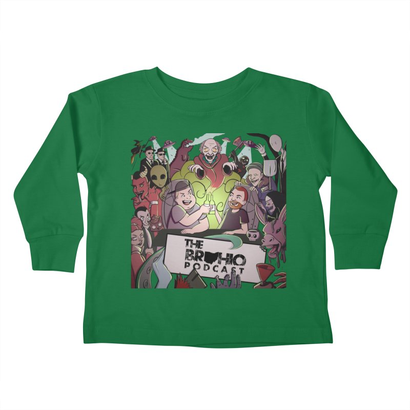 The whole gang with no background Kids Toddler Longsleeve T-Shirt by Brohio Merch