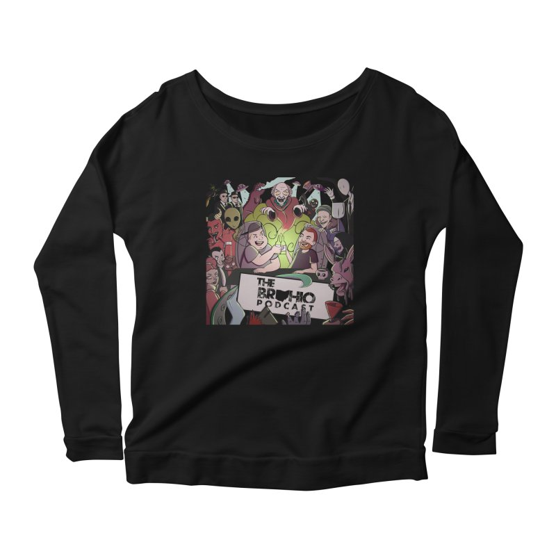 The whole gang with no background Women's Scoop Neck Longsleeve T-Shirt by Brohio Merch
