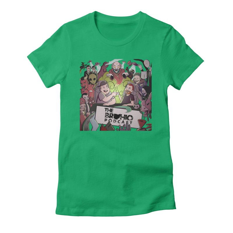The whole gang with no background Women's Fitted T-Shirt by Brohio Merch