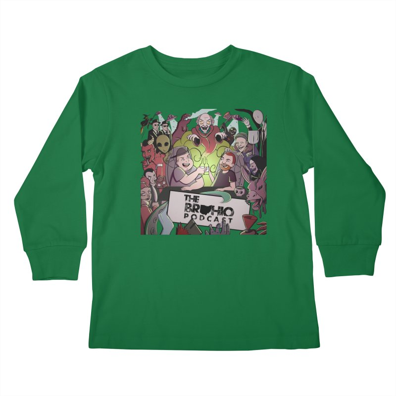 The whole gang with no background Kids Longsleeve T-Shirt by Brohio Merch