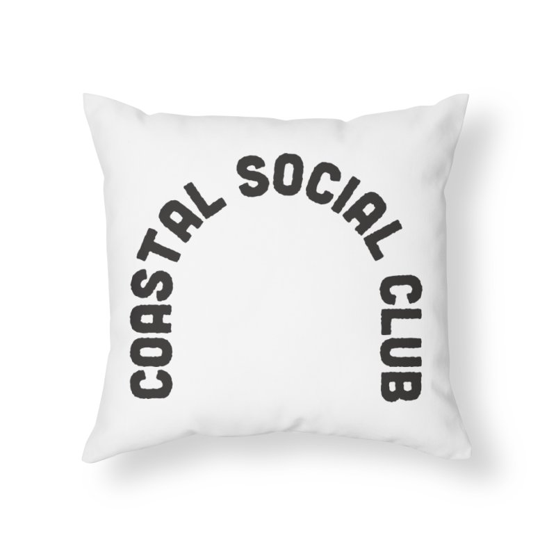 Coastal Stamp Home Throw Pillow by Broken & Coastal