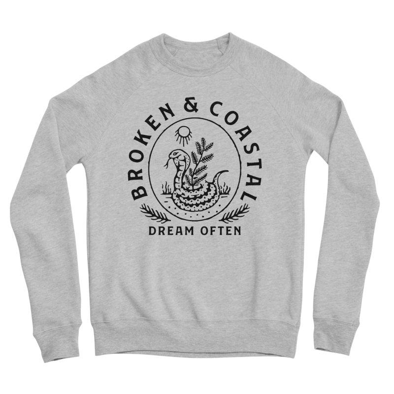 The Black Cobra Men's Sponge Fleece Sweatshirt by Broken & Coastal