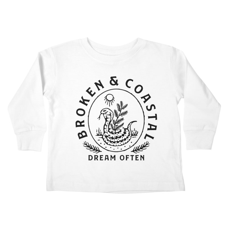 The Black Cobra Kids Toddler Longsleeve T-Shirt by Broken & Coastal