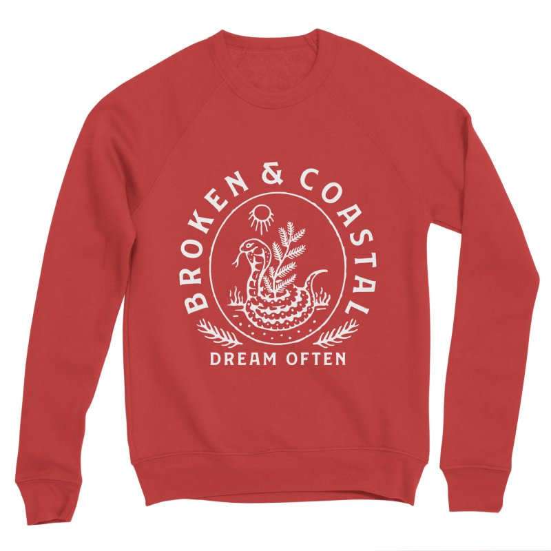 The White Cobra Men's Sponge Fleece Sweatshirt by Broken & Coastal