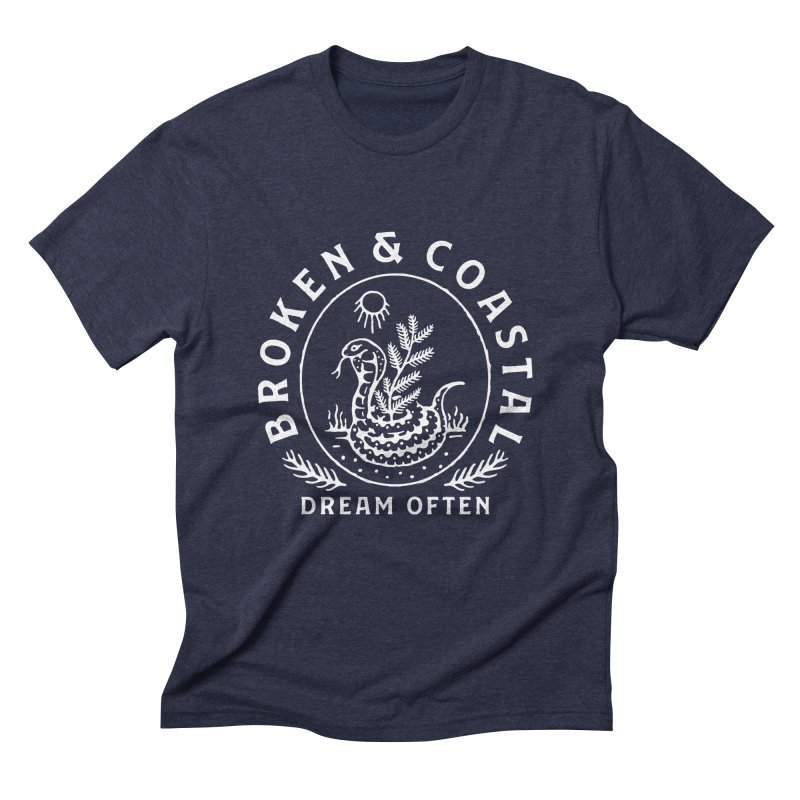 The White Cobra Men's Triblend T-Shirt by Broken & Coastal