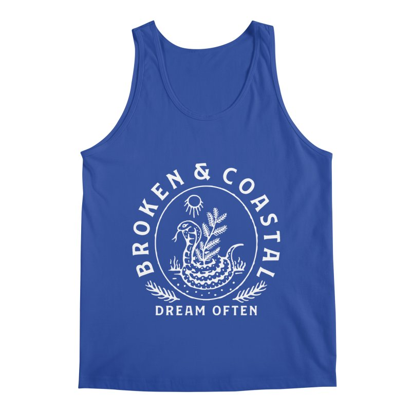 The White Cobra Men's Regular Tank by Broken & Coastal
