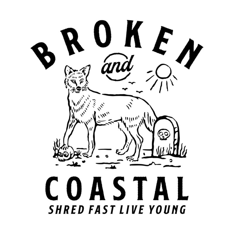 The Black Fox Men's Sweatshirt by Broken & Coastal