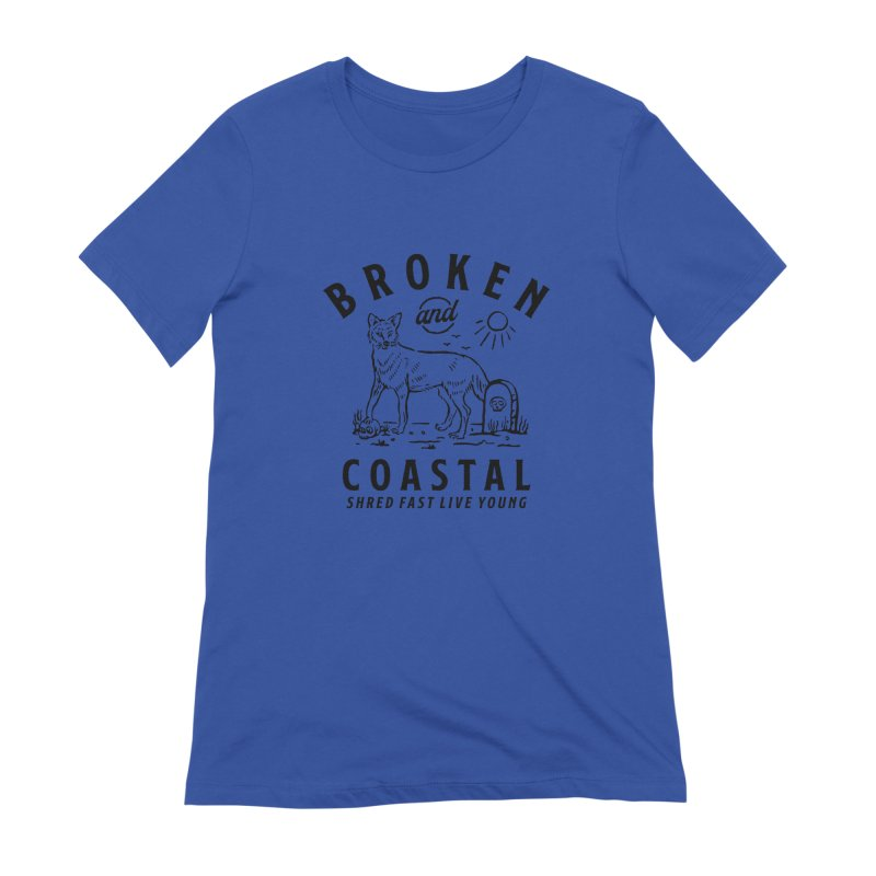 The Black Fox Women's T-Shirt by Broken & Coastal