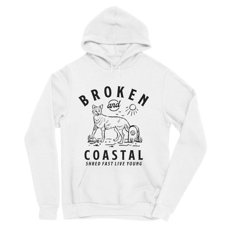 The Black Fox Men's Pullover Hoody by Broken & Coastal