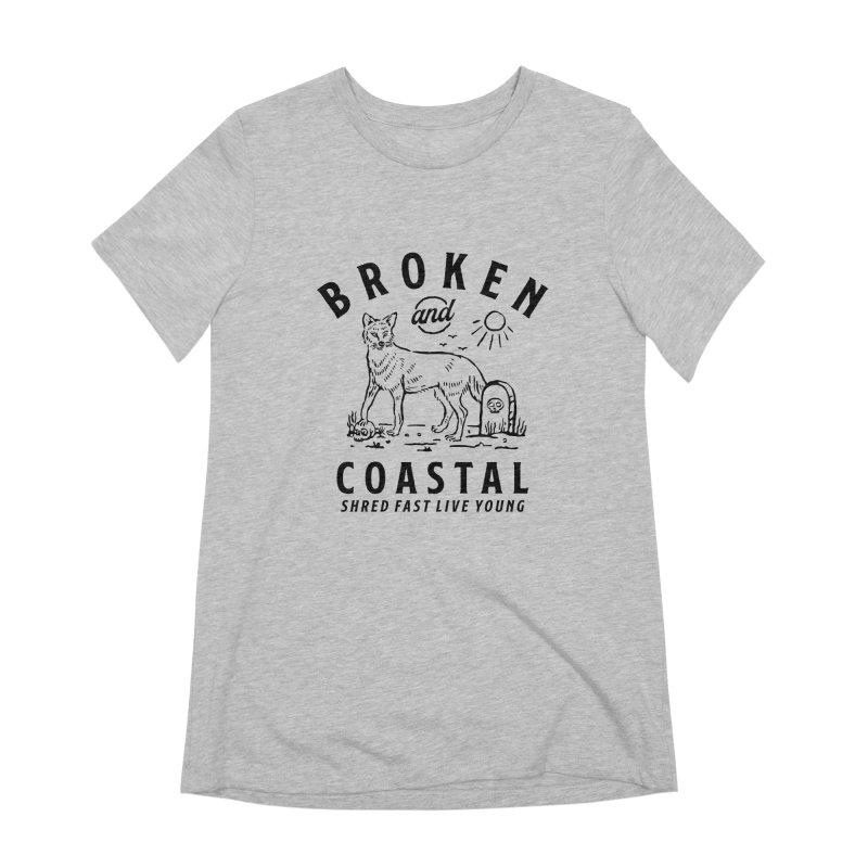 The Black Fox Women's Extra Soft T-Shirt by Broken & Coastal