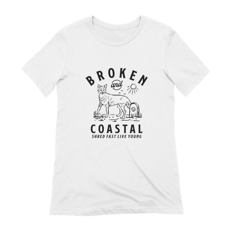 The Black Fox Women's Extra Soft T-Shirt by Broken & Coastal
