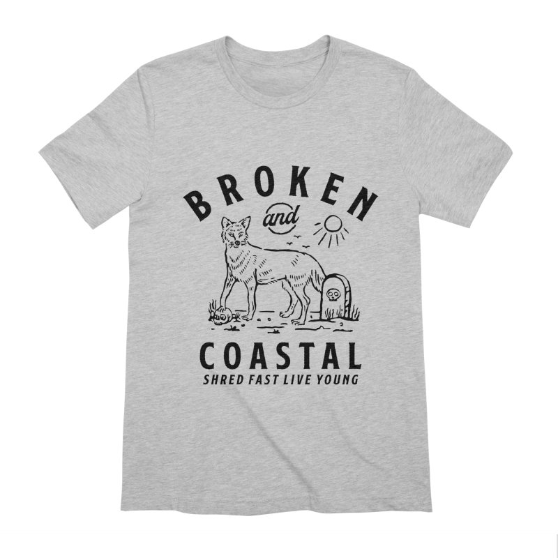 The Black Fox Men's Extra Soft T-Shirt by Broken & Coastal