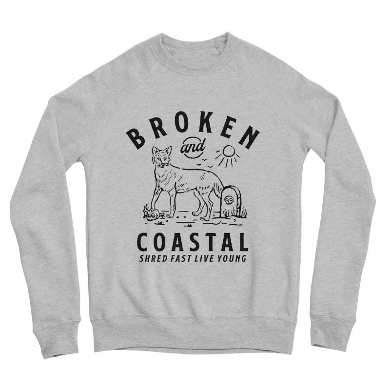 The Black Fox Men's Sponge Fleece Sweatshirt by Broken & Coastal