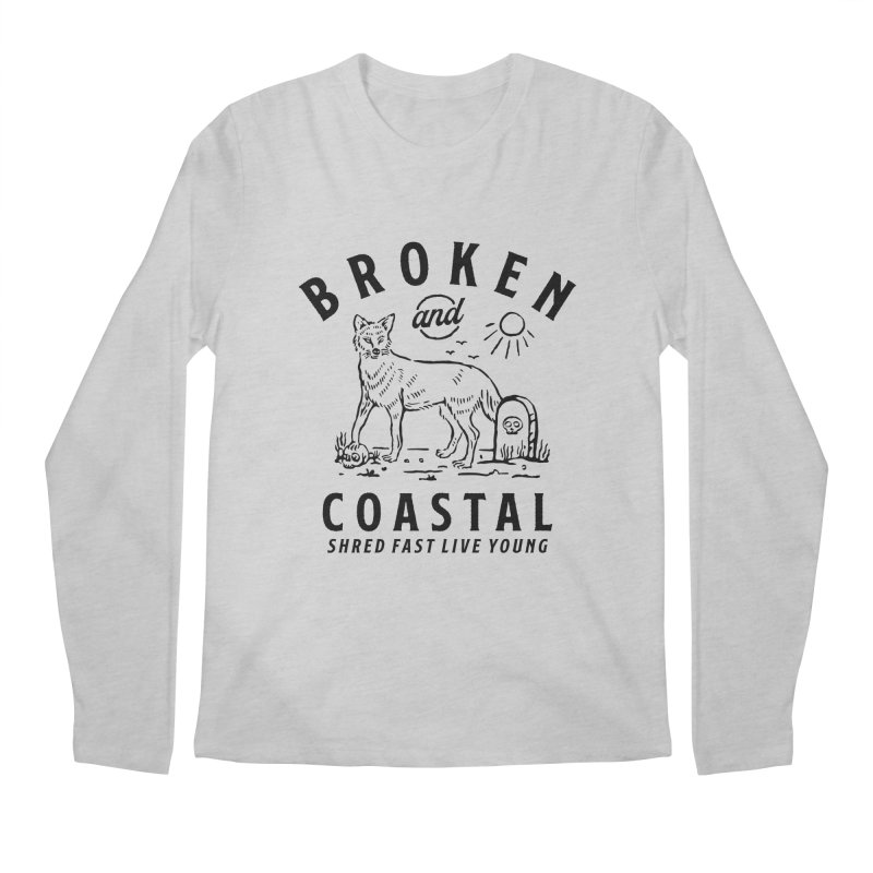 The Black Fox Men's Longsleeve T-Shirt by Broken & Coastal
